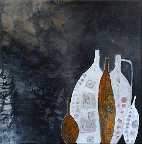 Acryl Gemälde auf Leinwand/ abstrakt/ 80x80cm/ Toskanische Krüge I Wandbild Acrylbild moderne Kunst/ handgemalt/ Originalbild