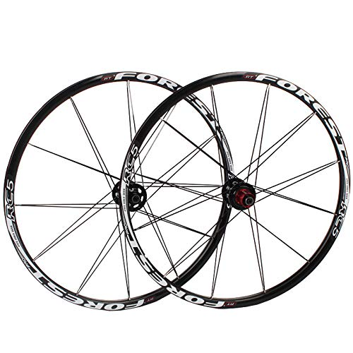 Ckssyao Bike Wheelset, MTB Cycling Wheels Mountain Bike Disc Set Rueda de Freno Rueda rápida 5 Palin Roding 8 9 10 Velocidad 24h,26 Inch