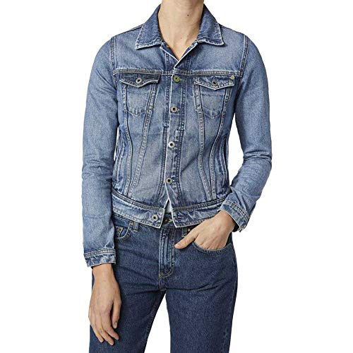 Pepe Jeans Core Jacket Giacca in Jeans, Blu (Wiser Wash Medium Used Denim Wx6), X-Large Donna