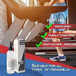 100% Silicone Treadmill Belt Lubricant, Easy to Apply Formulated to Work with a Wide Range of Walking and Running Treadmills, Odorless and Non-Toxic (1 Pack)