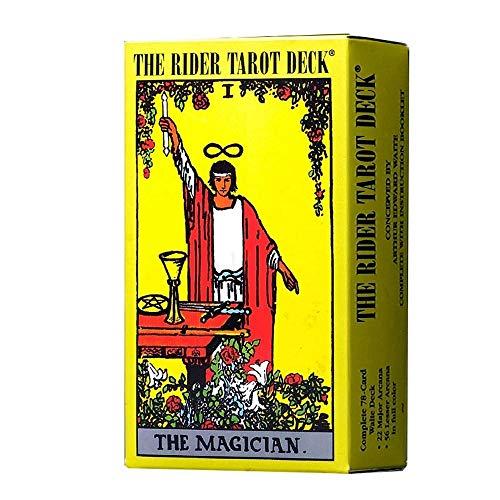 JJSFJH Mitología clásica Cartas del Tarot Mazo de Principiante Vintage 78 Cartas Juego de Contar el Futuro en Caja Colorida Mazo de Tarot Desconocido Salvaje