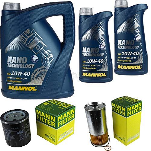 Mannol 7 L Nano Technology 10W-40 Aceite de motor + filtro MANN-FILTER Mercedes-Benz 100 Bus D
