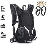 Cycling Backpack, 15L Running Rucksack, Waterproof Breathable Cycling Rucksack, Ski Rucksack for Biking