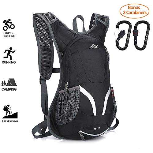 Cycling Backpack, 15L Running Rucksack, Waterproof Breathable Cycling Rucksack, Ski...