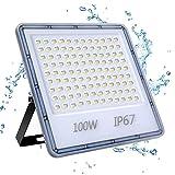100W Focos LED Exterior, YIQIBRO 10000LM 6500K Blanco Frío