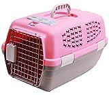 BPS (R) Transportín Rígido para Perro o Gato, Animales Domésticos, Tamaño: 48 x 30 x 28 cm. (Rosa)