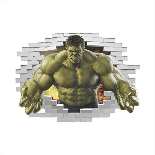 GOGR 3D Anime Hulk Wohnzimmer TV Hintergrund Wand Dekoration WandAufkleber 50 * 70cm