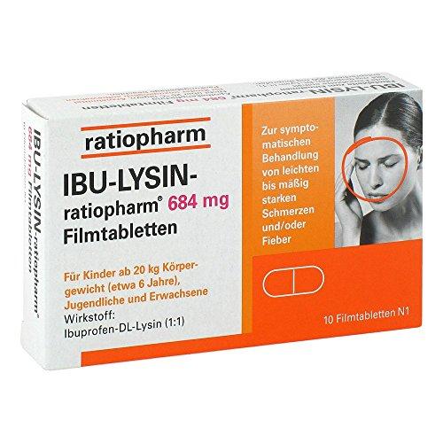 IBU-Lysin ratiopharm 684 mg Filmtabletten, 10 St. Tabletten
