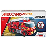Meccano Junior, camión de Bomberos de Rescate con Luces y Sonidos, Kit de construcción Steam para niños de 5 años en adelante