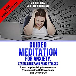 Guided Meditation for Anxiety, Stress Relief, and Panic Attacks cover art