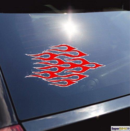 Tribal vlammen type 1 sticker ca. SUPERSTICKI®, tuningsticker, van high-performance folie voor alle gladde oppervlakken, UV- en wasstraatbestendig, tuning, professionele kwaliteit, auto-ruiten, lak, professionele kwaliteit, tuning