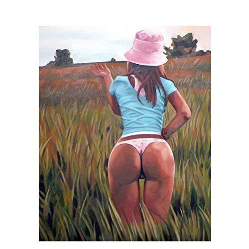 FHGFB 5D-DIY-Rhinestone Painting Suite Big Ass Woman Diamond Painting Suite Tema Completo Pintura Diamante Decoración De La Pared Clásica Mujer Sin Marco-40x50cm