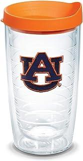 Tervis 1056609 Auburn Tigers Tumbler with Emblem and Orange Lid 16oz, Clear
