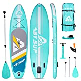 ABYSUP Paddle Boards, 106 Inflatable Paddle Board, SUP, Paddleboard with All Accessories & Carry Bag, Non-Slip Deck SUP Paddle Board, Anti-Sink Paddle&Pump Included, Color Mint & White, SUP124