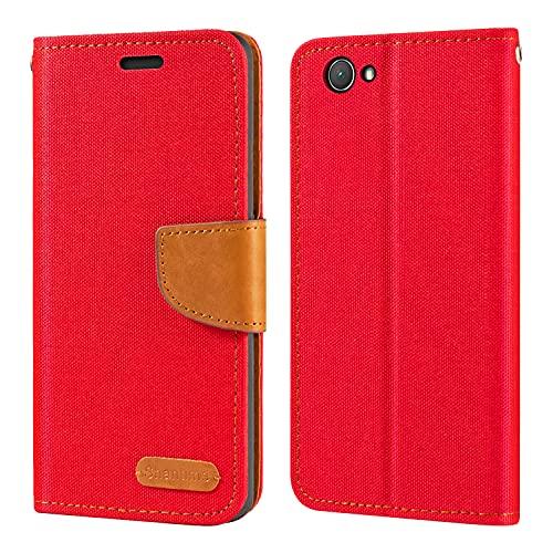 Custodia a portafoglio in pelle Oxford per Sony Xperia Z1 Compact, con cover posteriore in TPU morbido con magnete per Sony Xperia Z1 Compact