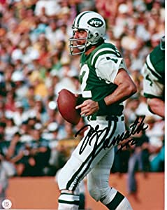Kirkland Signature Joe Namath, NY Jets 8 X 10 Photo Autograph on Glossy Photo Paper