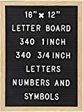 Felt Letter Board with 680 Letters, Numbers & Symbols 16 x 12 inch :: Changeable Letter Bo...