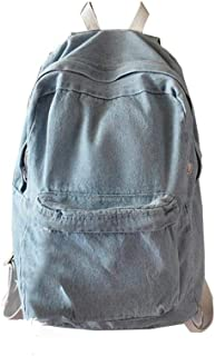 Denim Backpack for Girls, Elogoog Classic Vintage Bookbags Children Teens School Bag..