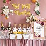 Sayala Etiquetas de la bandera de la muestra de la barra de Mimosa   Decoraciones florales de oro para despedida de soltera Bubbly Bar Champagne Baby Shower Compromiso de boda Despedida de soltera