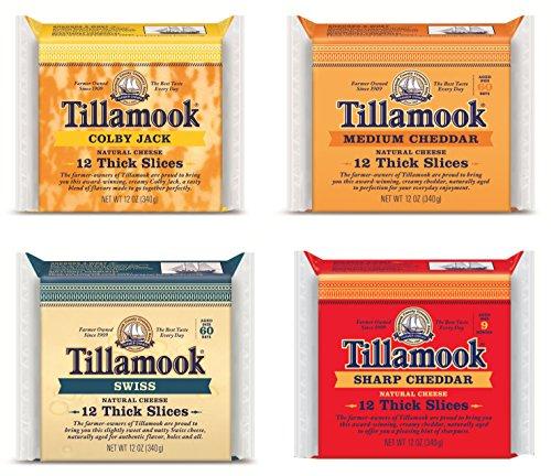Tillamook Medium, Sharp, Swiss & Colby Jack Sliced Cheese Sampler