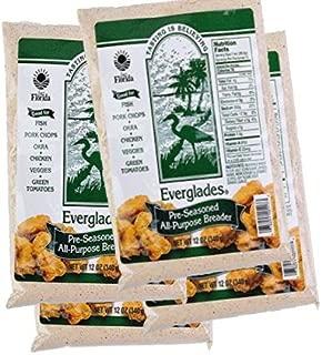 Everglades Seasoning Pre-Seasoned Breader 12 oz Bags Bread Crumb Mix 2, 4, 6 Packs (4)