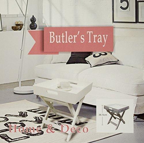 DRULINE Tablett - Tisch Klapptisch Holz Serviertisch Butlers Tray Beistelltisch klappbar