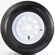 13 x 4.5 White Modular Trailer Wheel, 5x4.5 with ST17580R13 Radial Trailer Tire LRC