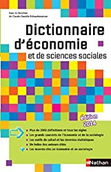 livre Dictionnaire d'économie et de sciences sociales
