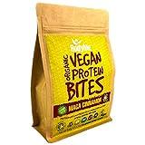 BodyMe Orgánica Proteínas Veganas Mordeduras De Bocados | Cruda Maca Canela | 500g | 100 Mordeduras | Con 3 Proteínas Vegetales