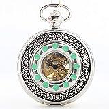 J-Love Vintage Antiguo Reloj de Bolsillo mecánico Pareja de Gama Alta Concha Roma Hombres y Mujeres Mesa