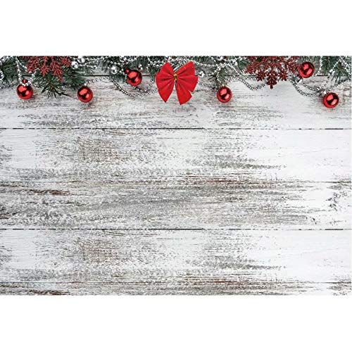 Christmas Silver Wood Board and Pine Leaf Lights String Photography Background Glitter Bokeh Background Christmas Birthday Party Photo Banner Props