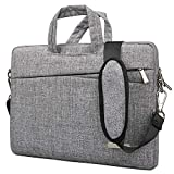 BingGoGo Laptop Bag 15.6 Inch Briefcase Shoulder Bags,Water Repellent Laptop Bag Briefcases Bussiness Carrying,Compatible Ultrabook MacBook 15.6 Inch Laptop Sleeves (15.6 Inch, Gery)