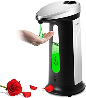 FOONEE 400ml /13.5 Oz Touchless Automatic Soap Dispenser, Infrared Intelligent Induction Soap Dispenser, ABS Plating Auto Hand Soap Dispenser for Hotel/Toilet/Kitchen/Workshop/Bathroom