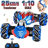 NQD RC Car, 1:10 Large Off Road Remote Control Monster Truck, Gesture Sensing Double Sided Remote Control Car with Cool Lights, Gift for Boys & Girls