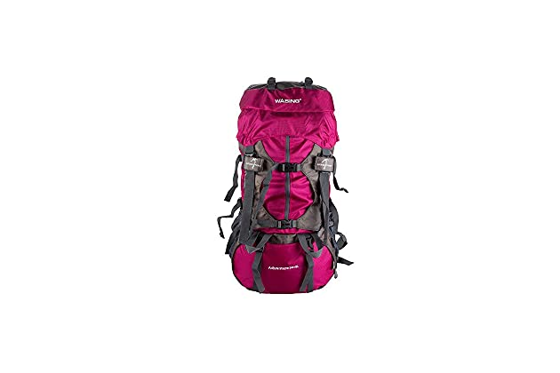 WASING 55L Internal Frame Backpack Hiking Backpacking Packs for Outdoor  Hiking Travel Climbing Camping Mountaineering with Rain Cover WS-55Lpack 71cf5585ec073