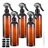 Empty Spray Bottles, YULEER 500ml / 16 oz Plastic Spray Bottles for Hand Sanitizer, Plants, Pack of 5