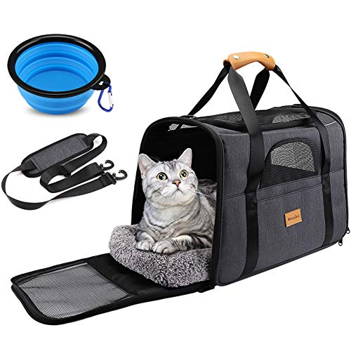 Sac Transport Chat, Sac Transport Chien Respirant et Pliable, Caisse...