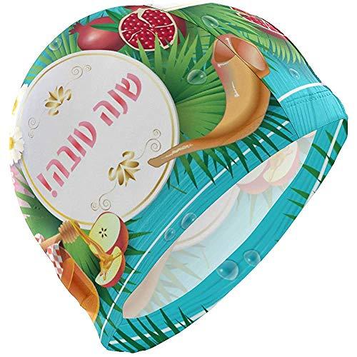 Gorro de baño Sukkot Granada Hombre Gorro de baño Niño Adulto Joven Adolescente Sombrero de natación Antideslizante