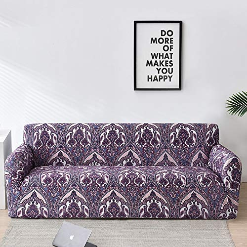 ASCV Fundas de sofá Floral para Sala de Estar Funda elástica para sofá Fundas para sofá Fundas para sofá Toalla para sofá Fundas sofás con Chaise Longue A2 1 Plaza