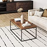 Nathan James Doxa Modern Industrial Coffee Table...