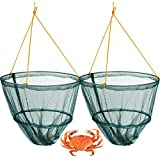 FiNeWaY@ CRAB FISH CRAYFISH LOBSTER DROP NET with BAIT CLIP & ROPE - SAFE CRABBING (SET OF 2)