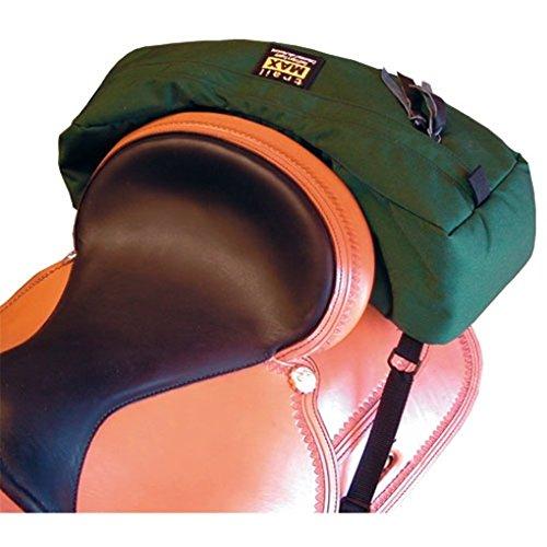 Trailmax Bolsa para borrén trasero con forma falcada - Equipaje para silla vaquera de cowboy - Verde