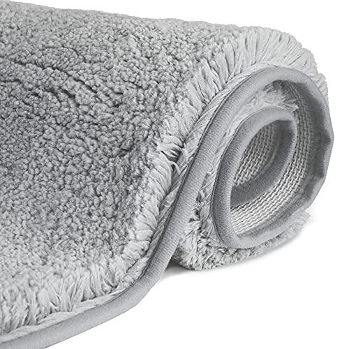 FCSDETAIL Tapis de Bain Antidérapant à Poils Longs en Microfibre, Tapis de Sol Lavable en Machine avec Microfibre Douces Absorbant l'eau...