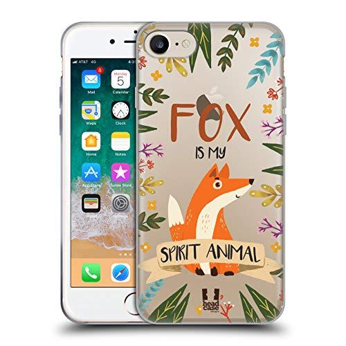 Head Hülle Designs Fuchs Seelen Tiere Abbildungen Soft Gel Huelle kompatibel mit Apple iPhone 7 / iPhone 8 / iPhone SE 2020