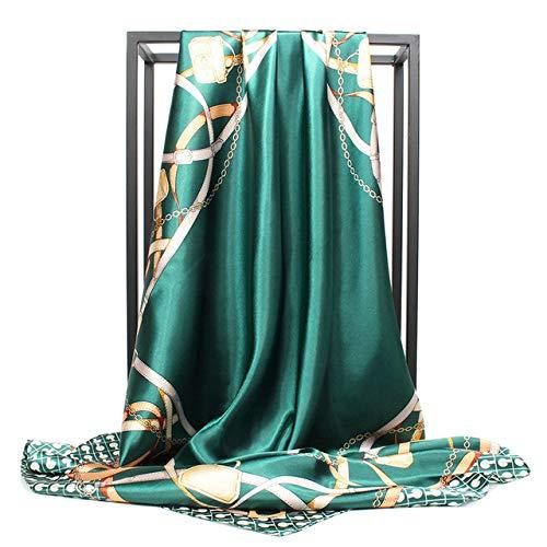 YDMZMS satijnen zijden sjaal vrouwen Brand Square Foulard Cheveux Soie Big Bandana Hijab Kop Square zijden sjaal 90 * 90cm