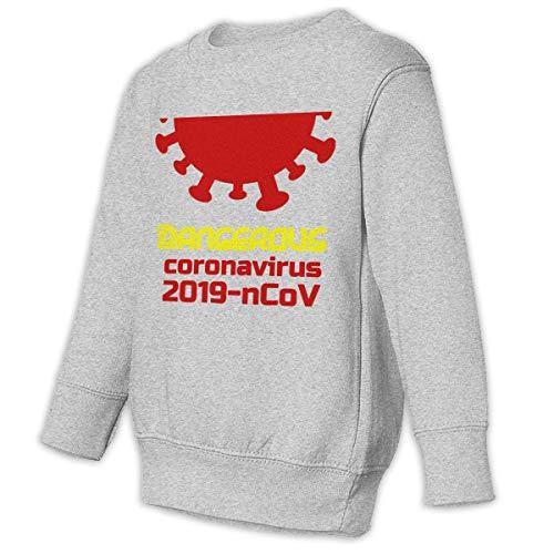 Unbrands Youth Dangerous Coronavirus-ncov-Warning Cotton Sweatshirts Hoodies Without Pockets