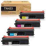 CMYBabee Cartucce toner compatibili per Brother TN423 TN421 compatibili per Brother HL-L8260CDW HL-L8360CDW DCP-L8410CDN DCP-L8410CDW MFC-L8690CDW MFC-L8900CDW (1 Nero 1 Ciano 1 Magenta 1 Giallo)
