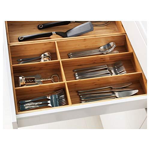 Bandeja de cubiertos IKEA VARIERA 32x50x5.4 cm bambú