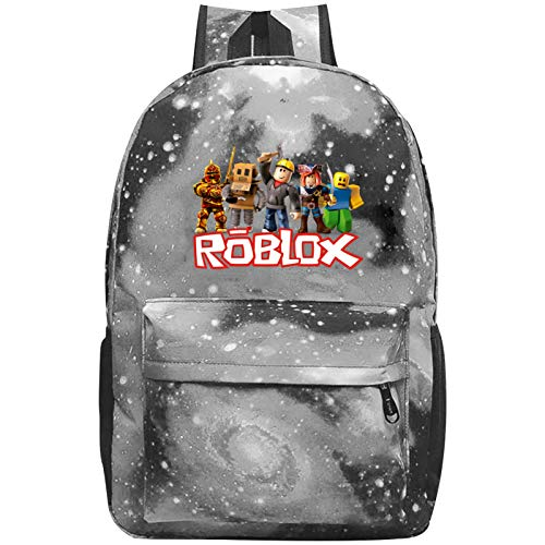 Kids Ro-bl-ox 3D Printed Galaxy Shoulder Backpacks Casual Daypack School Bags Bookbag for Boys Girls
