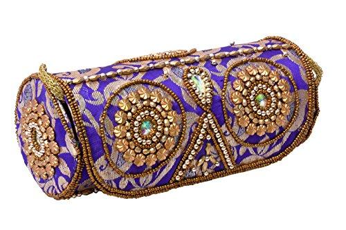 Craft Trade Women's Handmade Kundan Embroidery Bangle Box 20810 cm Design 4